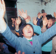 Chinese christians Praying