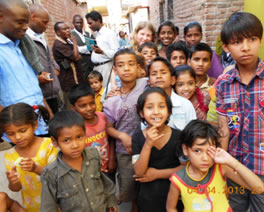 Muslim slum children